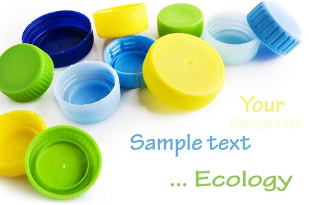 drink bottle: Caps of the bottle isolated on white background with sample text
