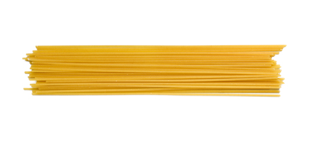 A portion of Spaghetti tube pasta isolated on white Banque d'images