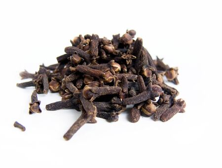 sweltering: Cloves on white background Stock Photo
