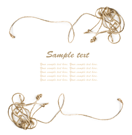 entangled: Entangled rope frame with sample text Stock Photo