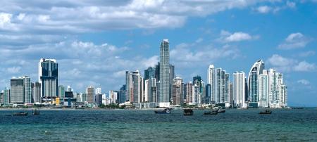 パナマ シティのモダンな高層ビル 写真素材