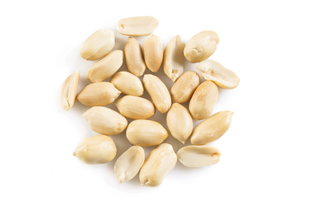 Peanuts isolated on white background Stock Photo