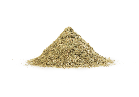 A pile of dry lemon grass isolated on white background. Lemongrass heap.
