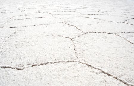 Abstract white background. Salar de Uyuni salty lake. Bolivia travel. Patten texture.