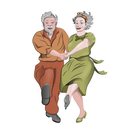 Dancing grandparents.