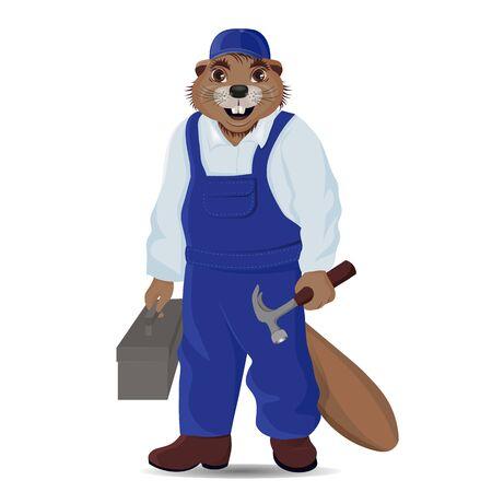 Character beaver as a repairman slyar