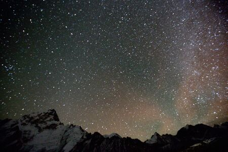 the Milky way over Himalaya