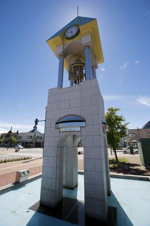 biei: Biei Clock tower Stock Photo