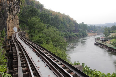 Rail travel in Kanchanaburi province is called Death Railway, Thailand photo
