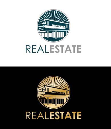 villa: Real estate villa in day and night