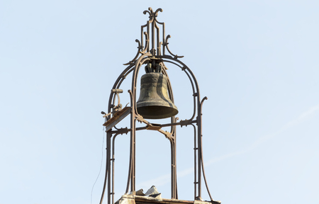 Detail of old bell tower photo
