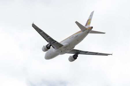 jumbo jet: MADRID, SPAIN - JUNE 14th 2015: Aircraft -Airbus A319-111-, of -Iberia- airline, is taking off from Madrid-Barajas -Adolfo Suarez- airport, on June 14th 2015.