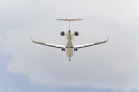 february 14th: MADRID, SPAIN - FEBRUARY 14th 2015: Aircraft -Bombardier CRJ-900-, of -Iberia- airline, is landing on Madrid-Barajas -Adolfo Suarez- airport, on February 14th 2015. Editorial