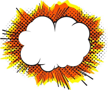 Explosion isolated retro style comic book background. Stock Illustratie