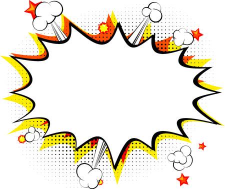 Explosie geïsoleerd retro stijl stripboek achtergrond.