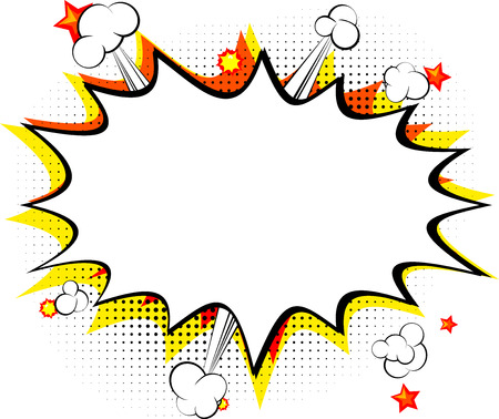 Explosion isolated retro style comic book background. Illustration