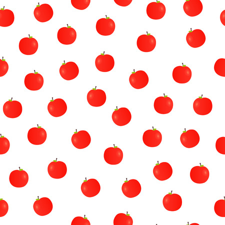 red apples: Seamless pattern with red apples on white background.