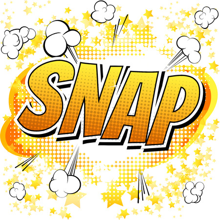 comic bubble: Snap  Comic book style word isolated on white background.