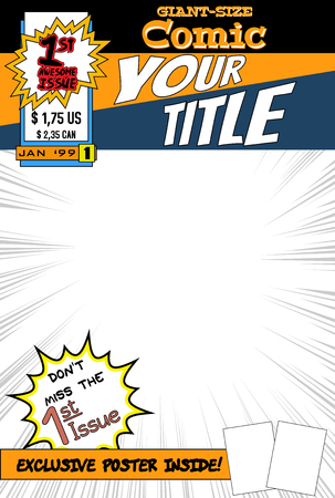 blank book cover: Comic book cover.