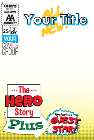 blank space: Editable comic book cover with blank space. Illustration