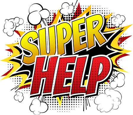 Super Guida - Comic parola stile libro su sfondo bianco. Archivio Fotografico - 45691622