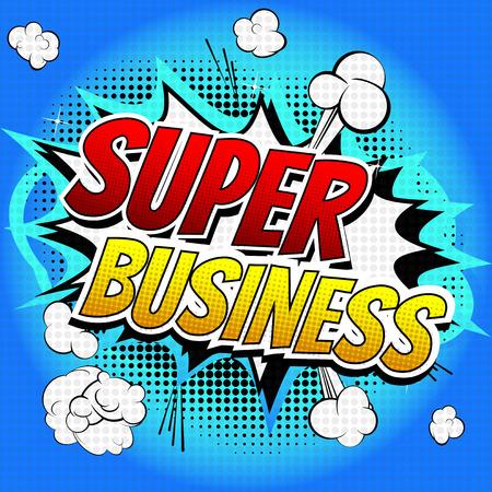 comic: S�per Empresas - palabra c�mico del estilo del libro de c�mic de fondo abstracto.