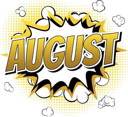 comico: Agosto - Comic palabra del estilo del libro de c�mic resumen de antecedentes.