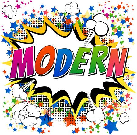 cómico: Moderno - cómica palabra del estilo del libro de cómic resumen de antecedentes.