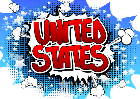 independencia: United States - Comic book style word.