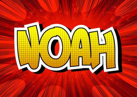 noah: Noah - Comic book style male name. Illustration