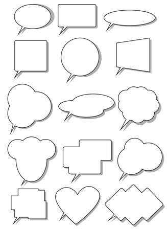 Chatter: Collection of comic book speech bubbles. Illustration