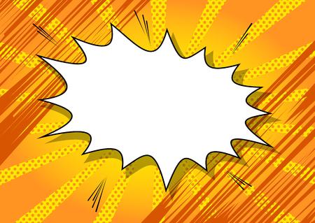 爆発、カラフルなレトロなスタイル コミック背景テキストのスペースに。