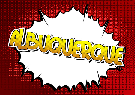 albuquerque: Albuquerque - Comic book style word on comic book abstract background. Illustration