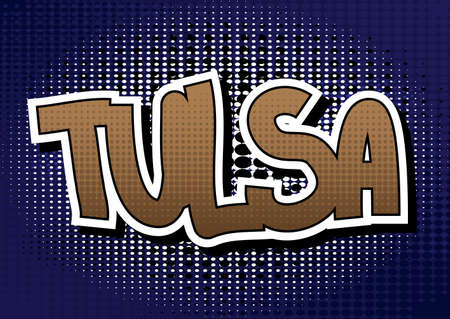 tulsa: Tulsa - Comic book style word.
