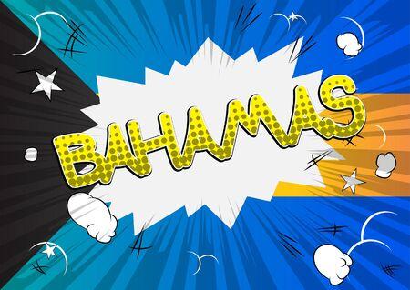 bahamas: Bahamas - Comic book style text.