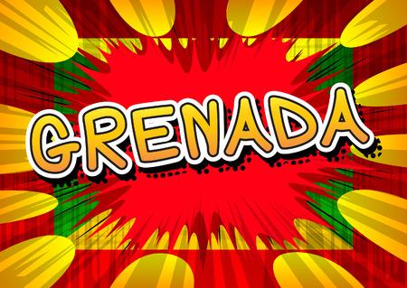 grenada: Grenada - Comic book style text.