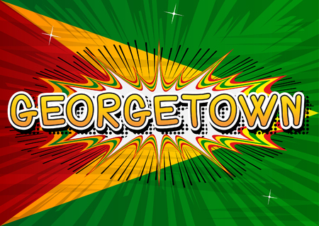 georgetown: Georgetown - Comic book style text. Illustration