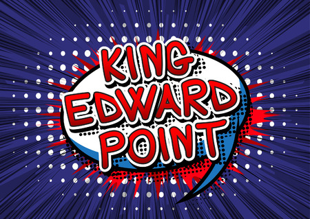 king edward: King Edward Point - Comic book style text.