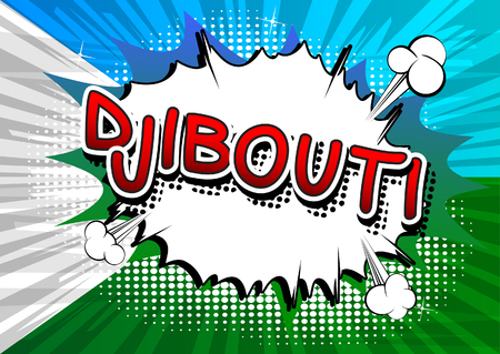 djibouti: Djibouti - Comic book style text.
