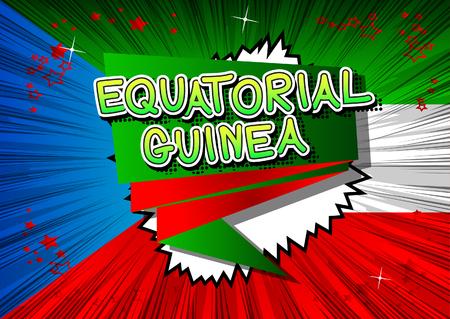 Equatorial Guinea - Comic book style text.