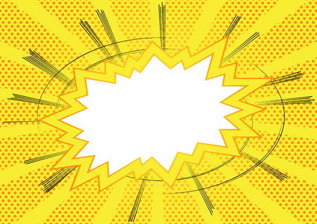 Vector illustrated cartoon, comic book style background.