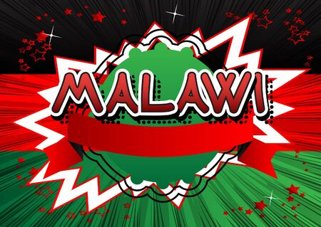 Malawi - Comic book style text. Illustration
