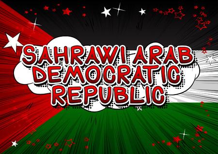 サハラ・アラブ民主共和国 - コミックブックスタイルのテキスト。