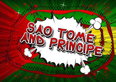 Sao Tome and Principe - Comic book style text.