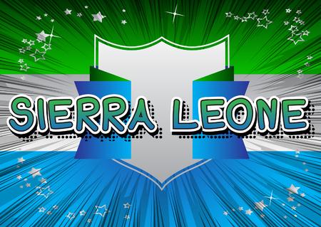 Sierra Leone - Comic book style text.