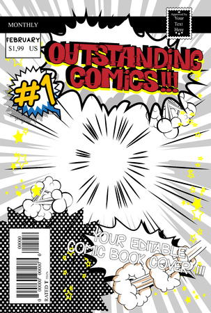 Editable comic book cover.