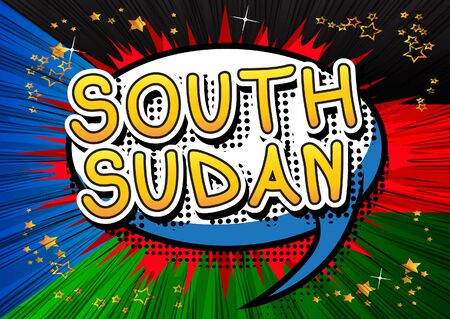 South Sudan - Comic book style text. Illustration