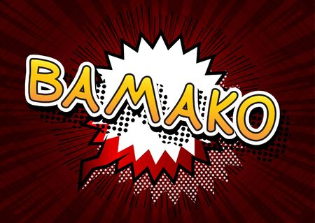 bamako: Bamako - Comic book style text. Illustration