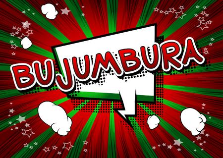 Bujumbura - Comic book style text. Illustration