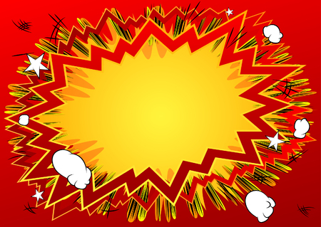 Colorful vector illustrated comic book style background.